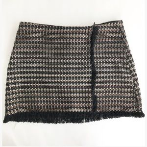 Zara tweed mini skirt